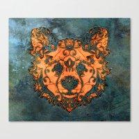 Stone Bear Canvas Print