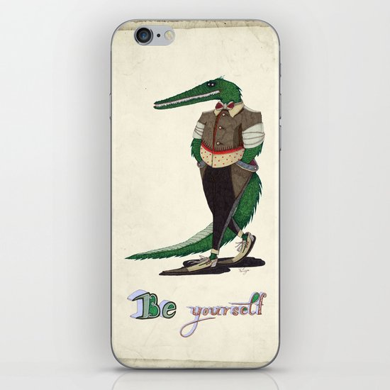Walking Crocodile iPhone & iPod Skin