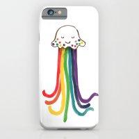 iPhone & iPod Case featuring Rainbow Jellyfish by Budi Kwan