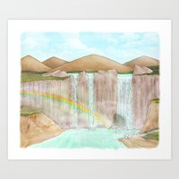 Rainbow / Waterfalls Art Print