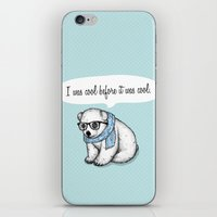 Hipster polarbear iPhone & iPod Skin