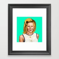 Framed Art Print featuring Hipstory -  Margaret by Amit Shimoni
