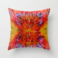 Splattered 60's - Painting Style Throw Pillow