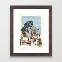 Potted Flowers I Framed Art Print