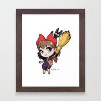 Chibi Kiki Framed Art Print