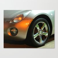Shiny Silver Car Canvas Print