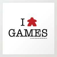 I Meeple Games Art Print
