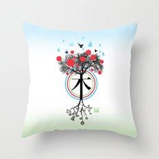 Árbol - 木 - Tree Throw Pillow
