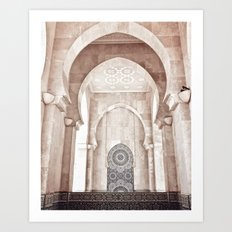 Moroccan archway Art Print