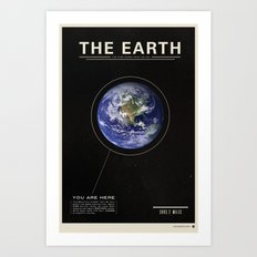 THE EARTH - Space | Time | Science Art Print