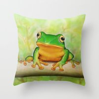 Taipei TreeFrog Throw Pillow