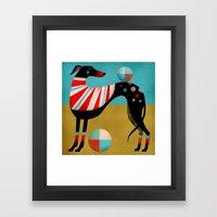 RACE DOG Framed Art Print