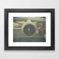 Vintage Airplane Engine  Framed Art Print