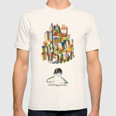 read a city Mens Fitted Tee Natural SMALL