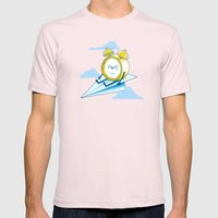 Times Flies (color option) Mens Fitted Tee Light Pink SMALL