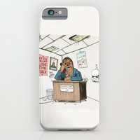 iPhone & iPod Case featuring Chewwie at work by Lee Grace Illustration