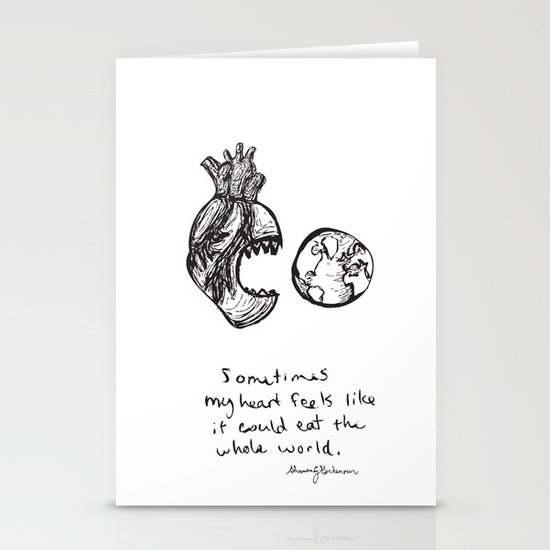 for the heart-hungry Stationery Card