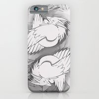 iPhone & iPod Case featuring Flying Mysterion (B&W) by Ghostsontoast