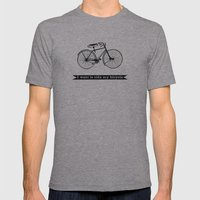 Bicycle Mens Fitted Tee Athletic Grey SMALL