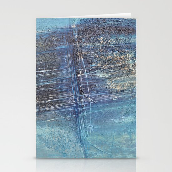 blue green abstract Stationery Card