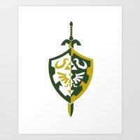 zelda Art Prints featuring Zelda by Brandon Riesgo