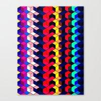 Spectrum Cubes / Pattern… Canvas Print
