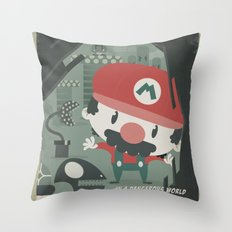 mario bros 4 fan art Throw Pillow