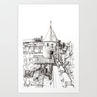 garden tower Art Print