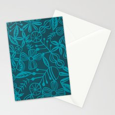 wild and natural - turquoise Stationery Cards