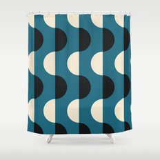 Bold Abstract Colour Blocking Shower Curtain