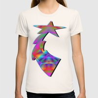 CAPSTONE RAINBOW Womens Fitted Tee Natural SMALL