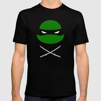TMNT Leo poster Mens Fitted Tee Black SMALL