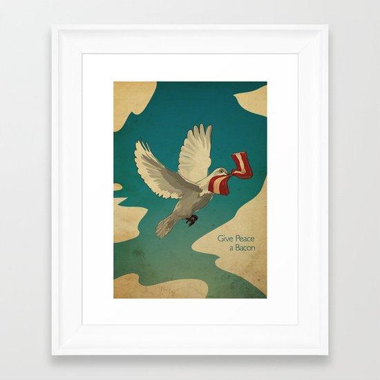 Give Peace a Bacon Framed Art Print