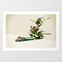 Walking Shadow, Turtles Art Print