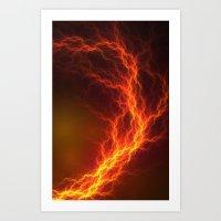 Fire and Lightning Art Print