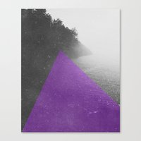 NEON NATURE | Purple Canvas Print