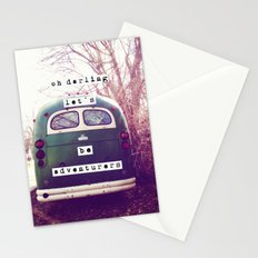 oh darling, let's be adventurers Stationery Cards