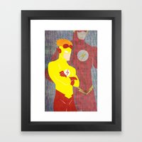 Kid Flash, Today is the Day Framed Art Print