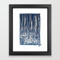 Oregon Forest Framed Art Print