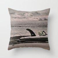 Surfboard 1 Throw Pillow