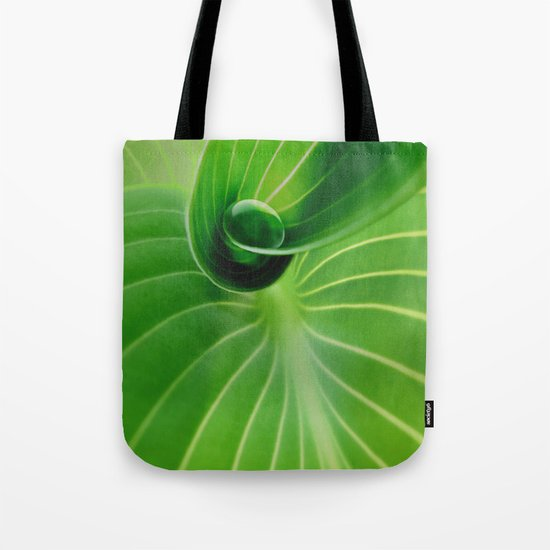 Leaf / Hosta with Drop (2) Tote Bag