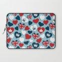 UK Hearts Laptop Sleeve