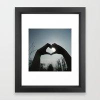 Hand Silhouette Framed Art Print