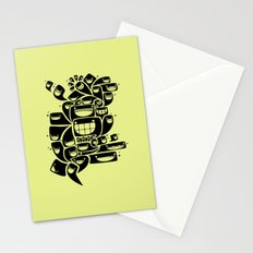 Happy Squiggles - 1-Bit Oddity - Black Version Stationery Cards