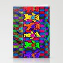 Grateful Dead Dancing Bears Colorful Psychedelic Characters #1 Stationery Cards