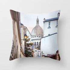 I love Montmartre, Paris. Throw Pillow