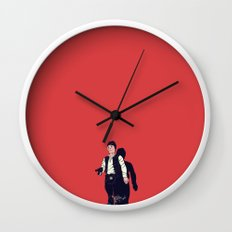 Over my dead body Wall Clock