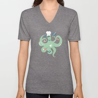 The Octopus Chef Unisex V-Neck
