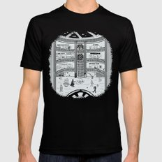 Darth Mall SMALL Black Mens Fitted Tee