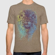 Lion King Mens Fitted Tee Tri-Coffee SMALL